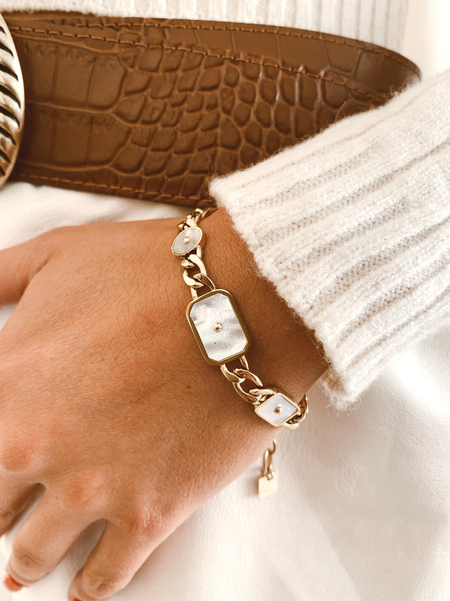 Bracelet Asya acier doré - Zag Bijoux