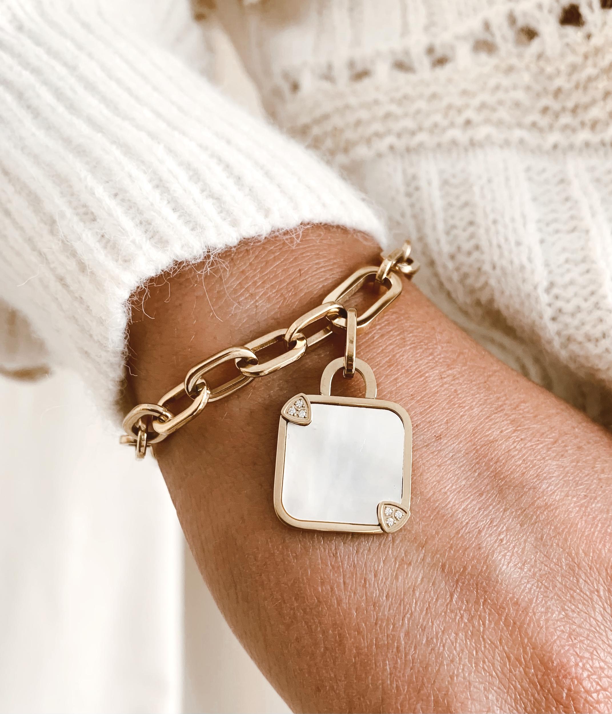 Bracelet Tramzi acier doré - Zag Bijoux