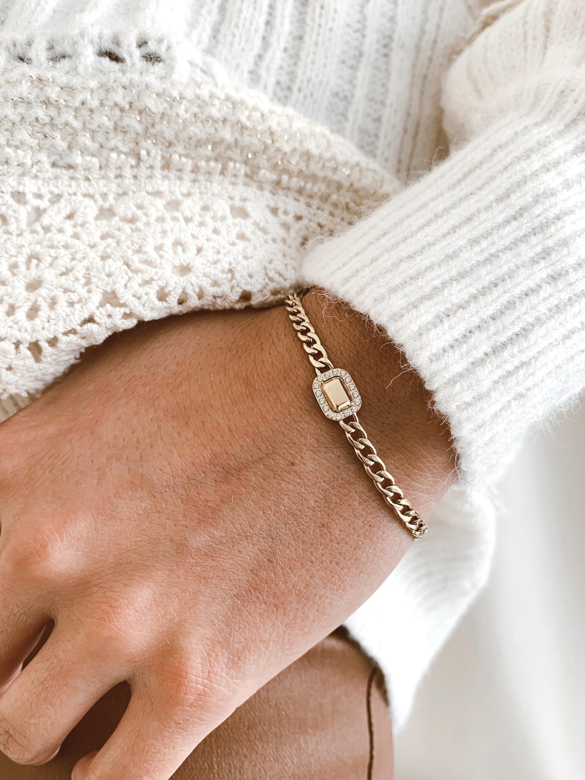 Bracelet Baleria acier doré - Zag Bijoux