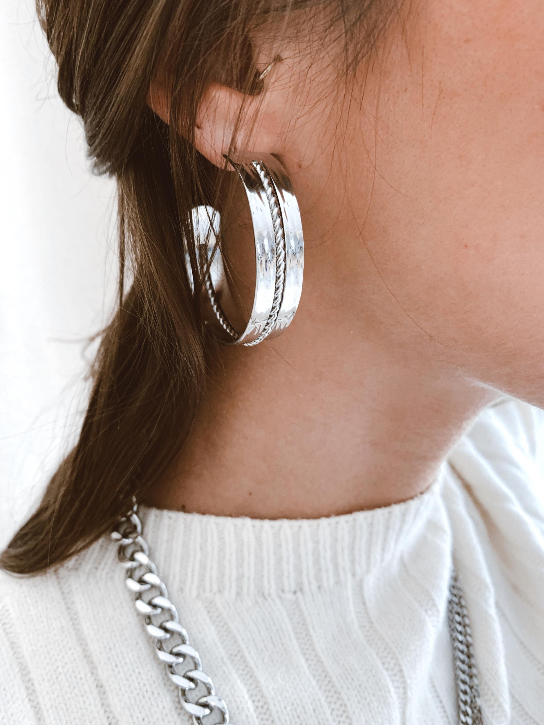 Boucles d\'oreilles Cheni acier - Zag Bijoux
