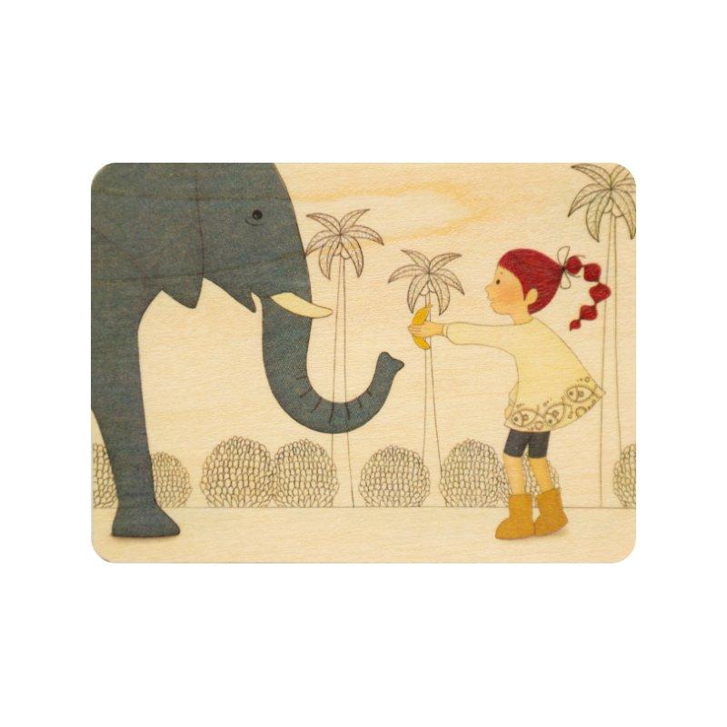 Carte postale bois kids 2 elephant