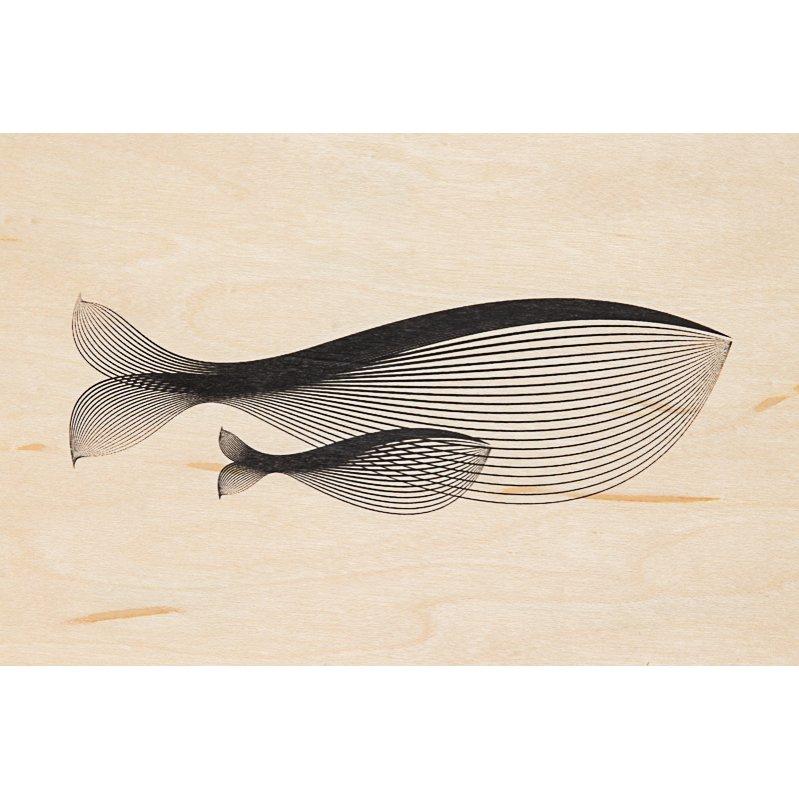 Carte postale bois baleine