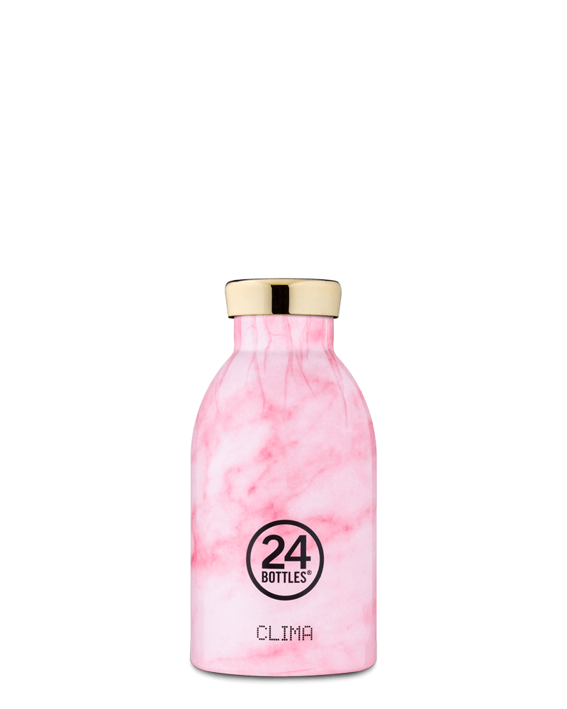 Bouteille isotherme 330ml Marbre Rose