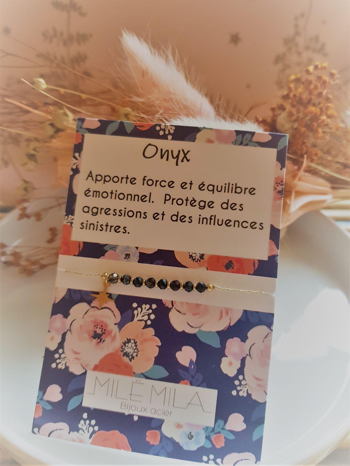 Bracelet porte-bonheur Onyx