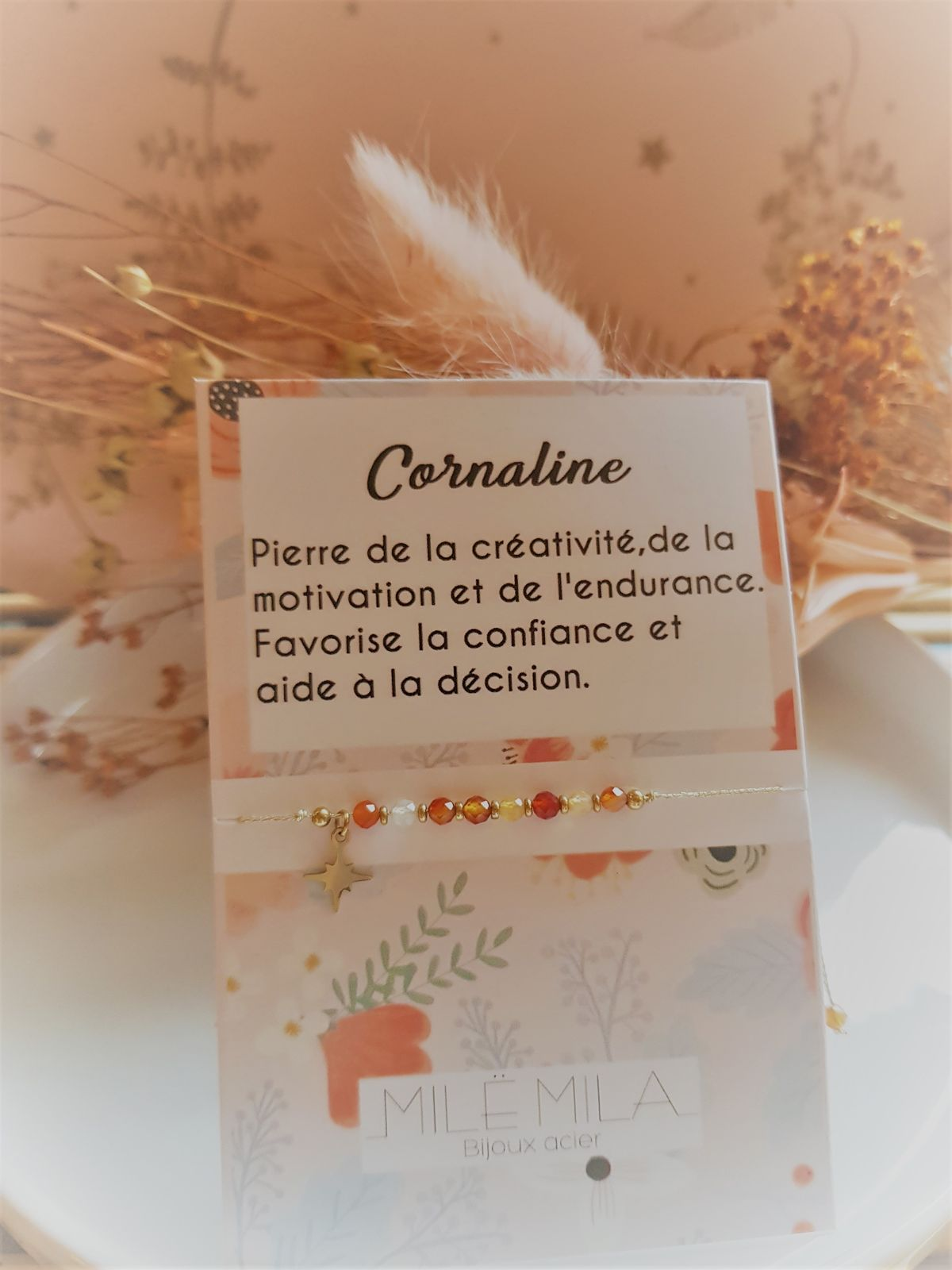 Bracelet porte-bonheur Cornaline
