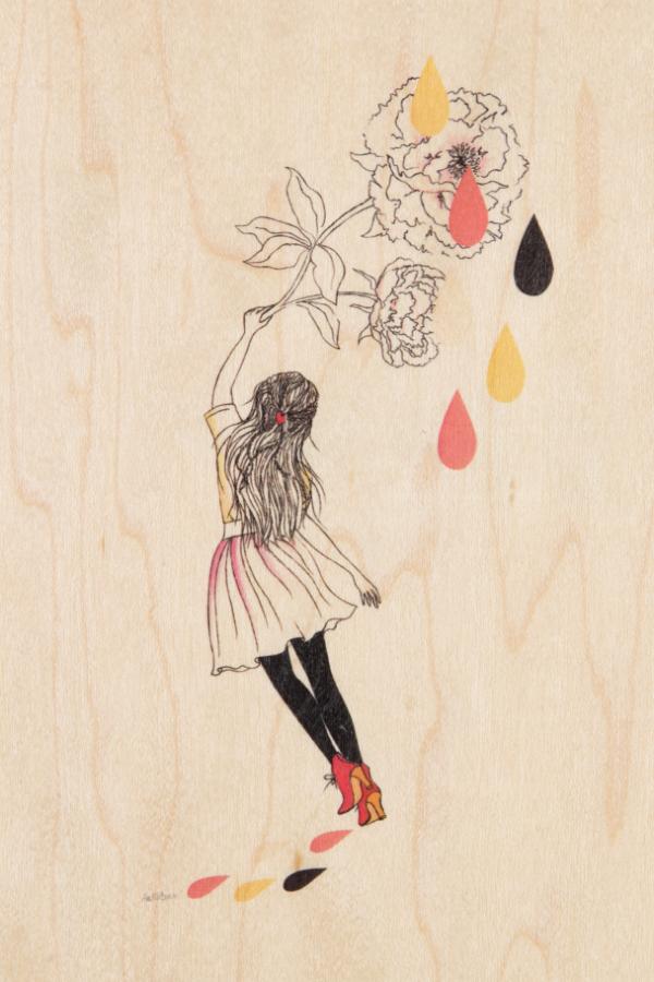 Carte postale bois Danse