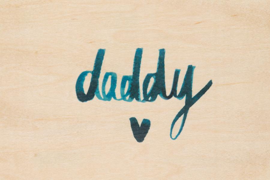 Carte postale bois Daddy