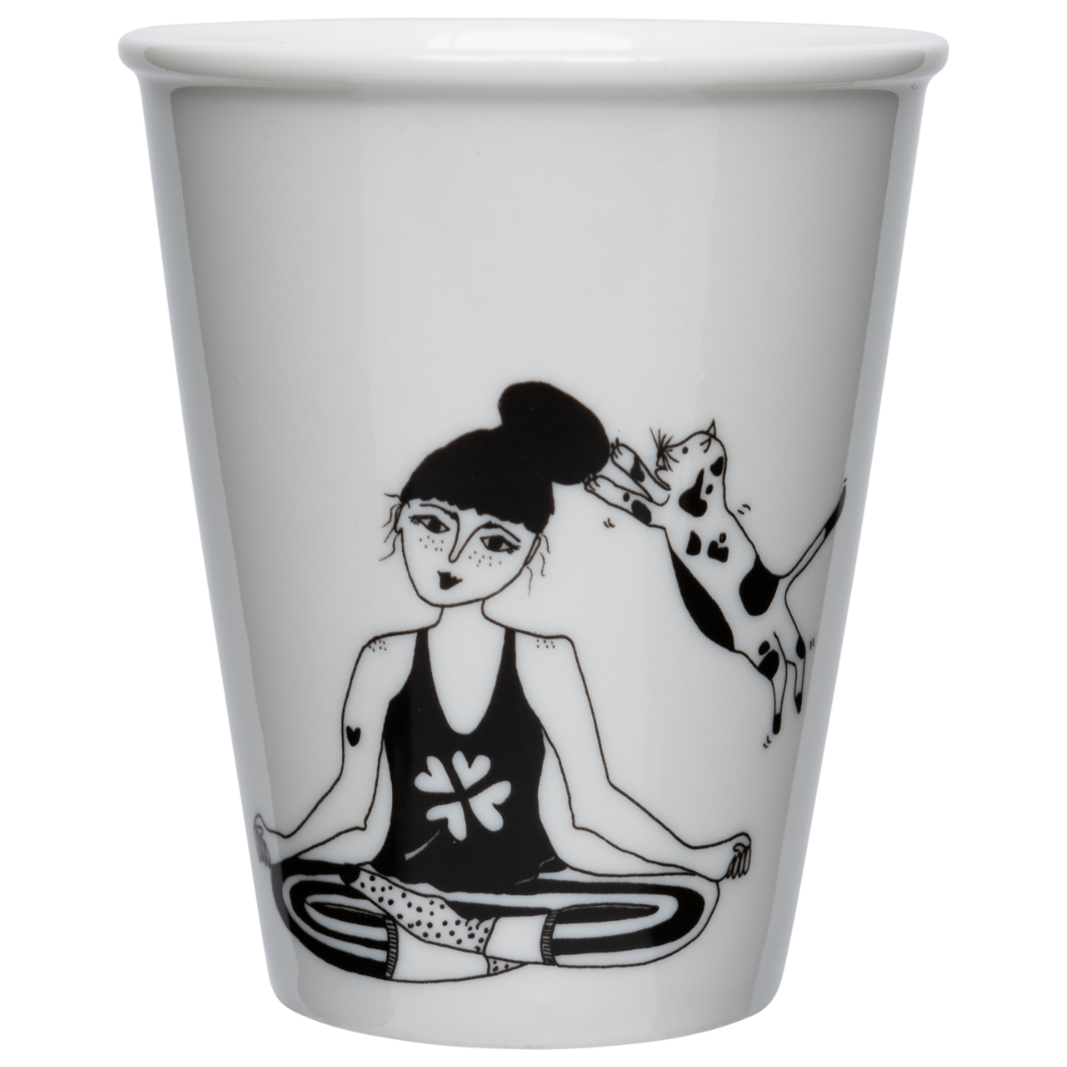 Cup yoga et chat
