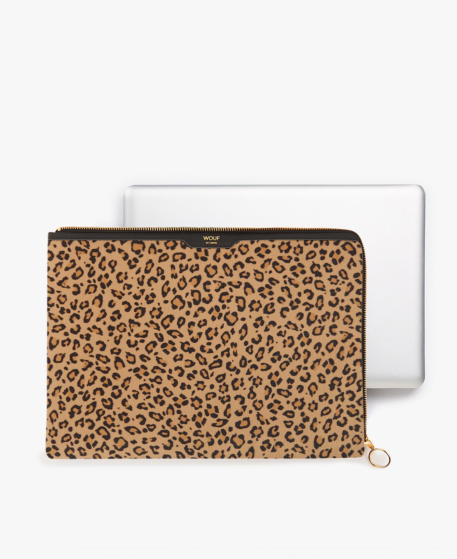 Housse 13\'\' poil leopard