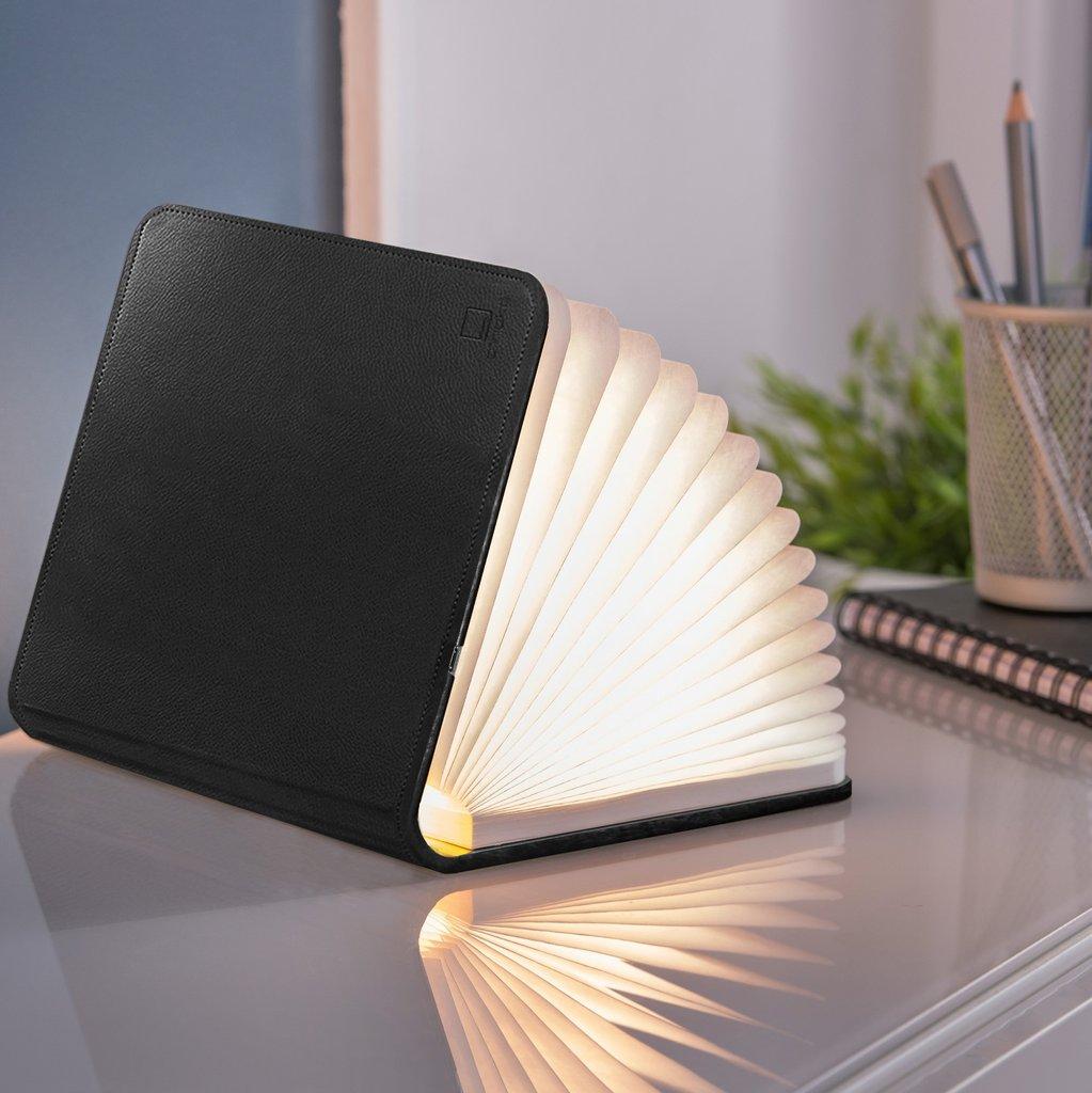 Lampe livre lumineux cuir