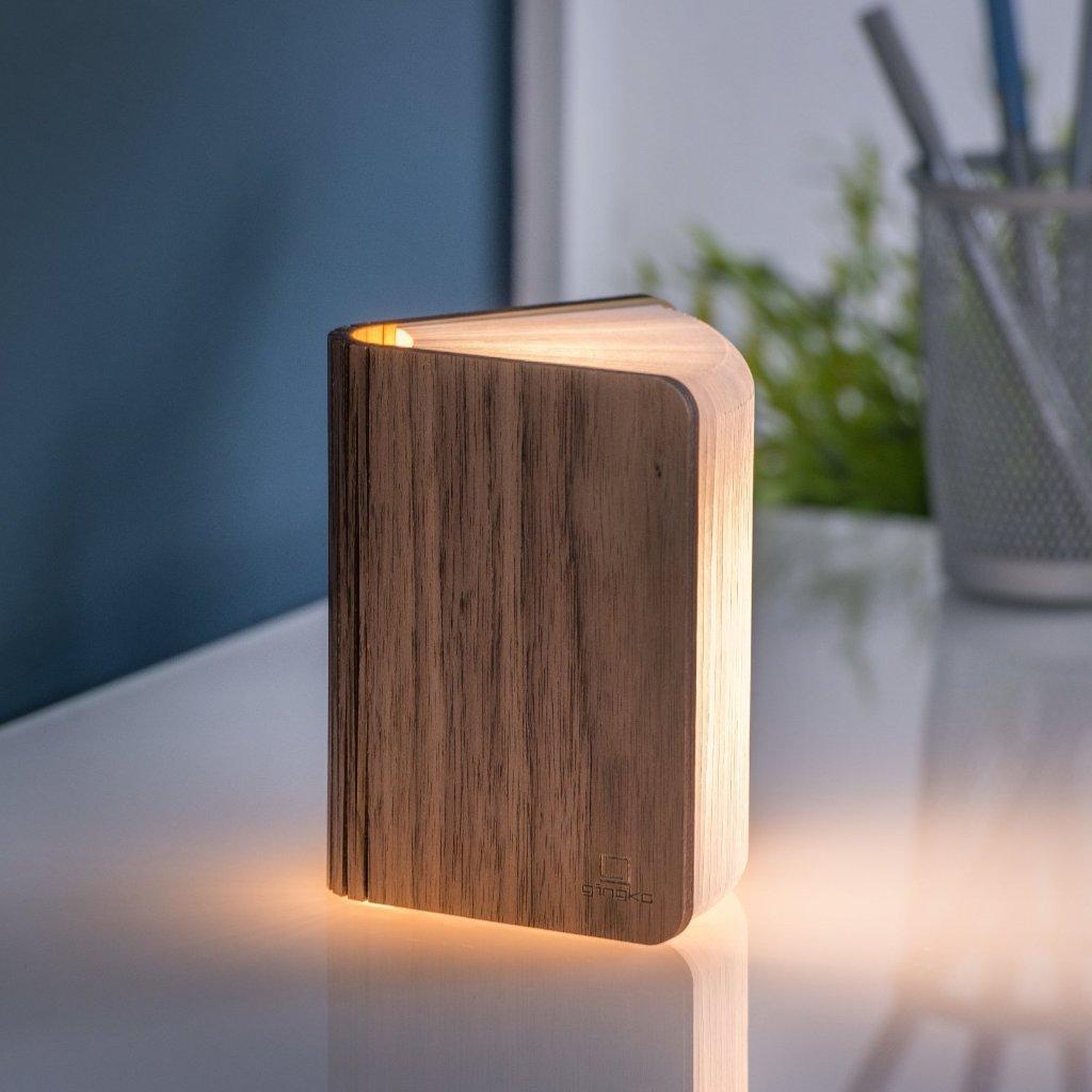 Lampe livre lumineux bois