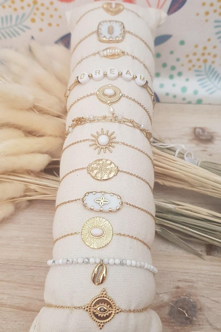 Bracelet acier blanc