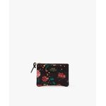 Black-Flowers-Small-Pouch-Bag-Front