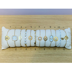 ACIER bracelet chaine BLANC (numero)