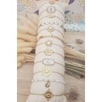 ACIER bracelet chaine BLANC