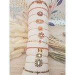 ACIER bracelet chaine orange