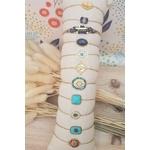 ACIER bracelet chaine BLEU2