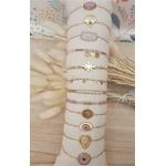 ACIER bracelet chaine rose (4-1)