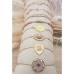 ACIER bracelet chaine rose (1)