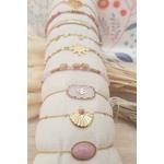 ACIER bracelet chaine rose (2)