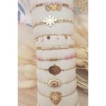 ACIER bracelet chaine rose (3)