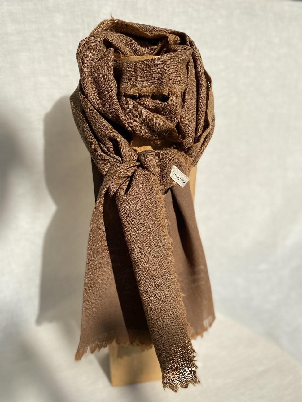 Echarpe pure laine - brun