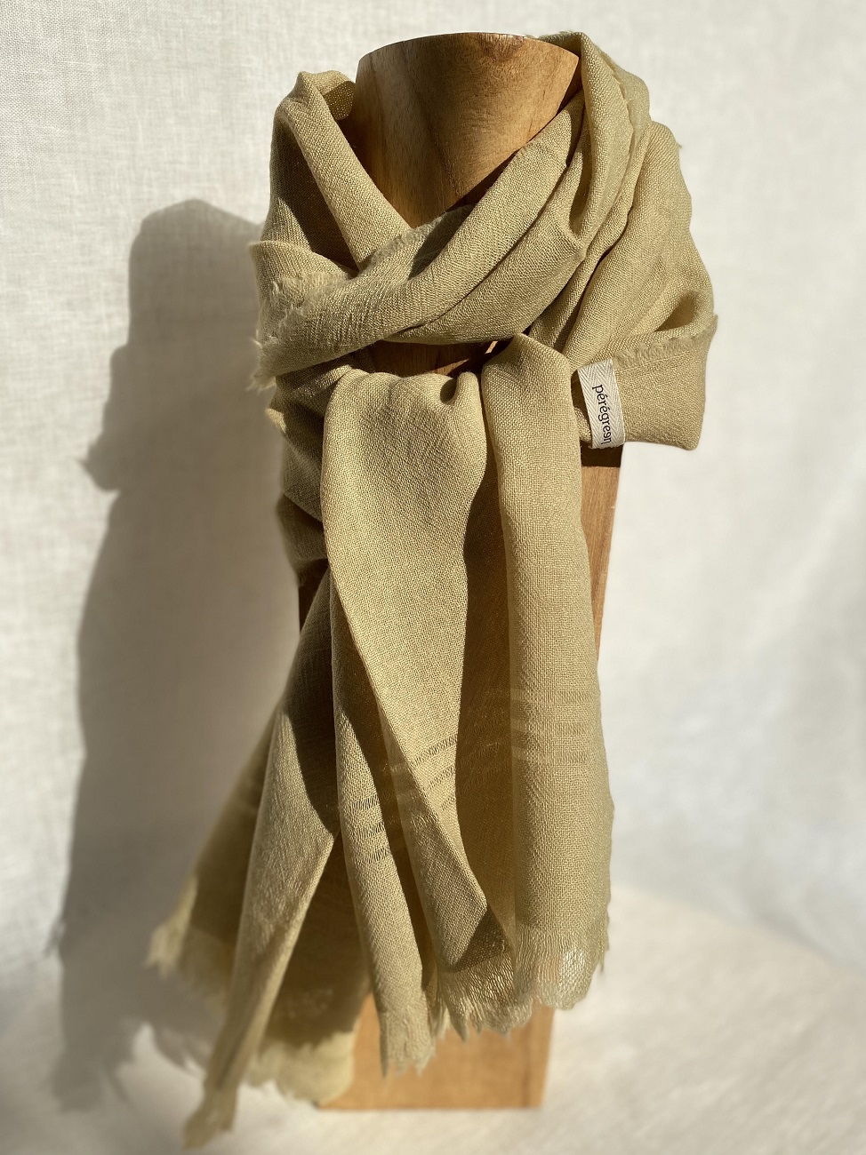 Echarpe pure laine - vert pâle
