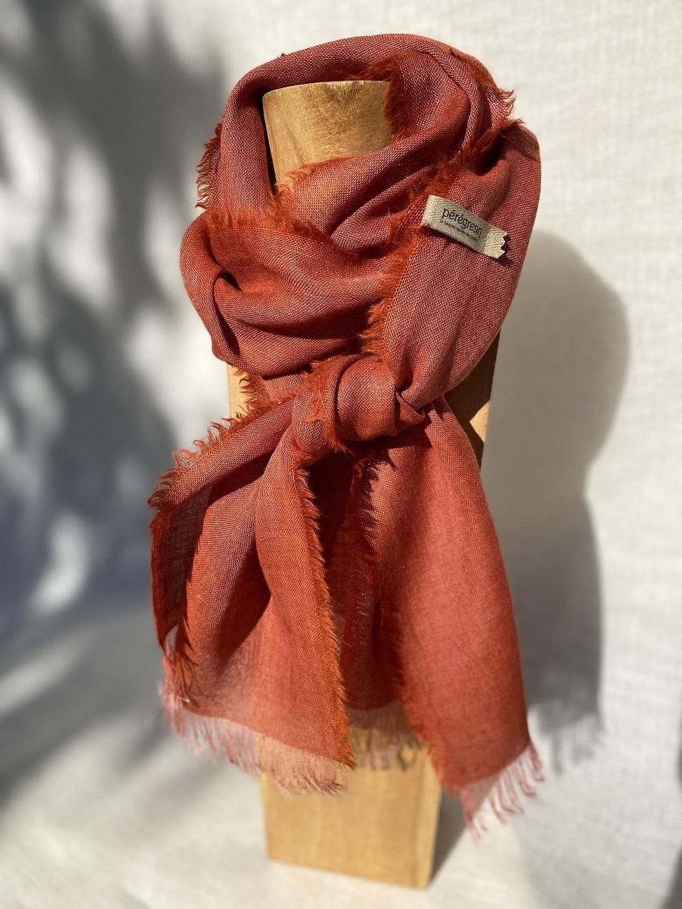 petit foulard rouge lin alpaga peregreen