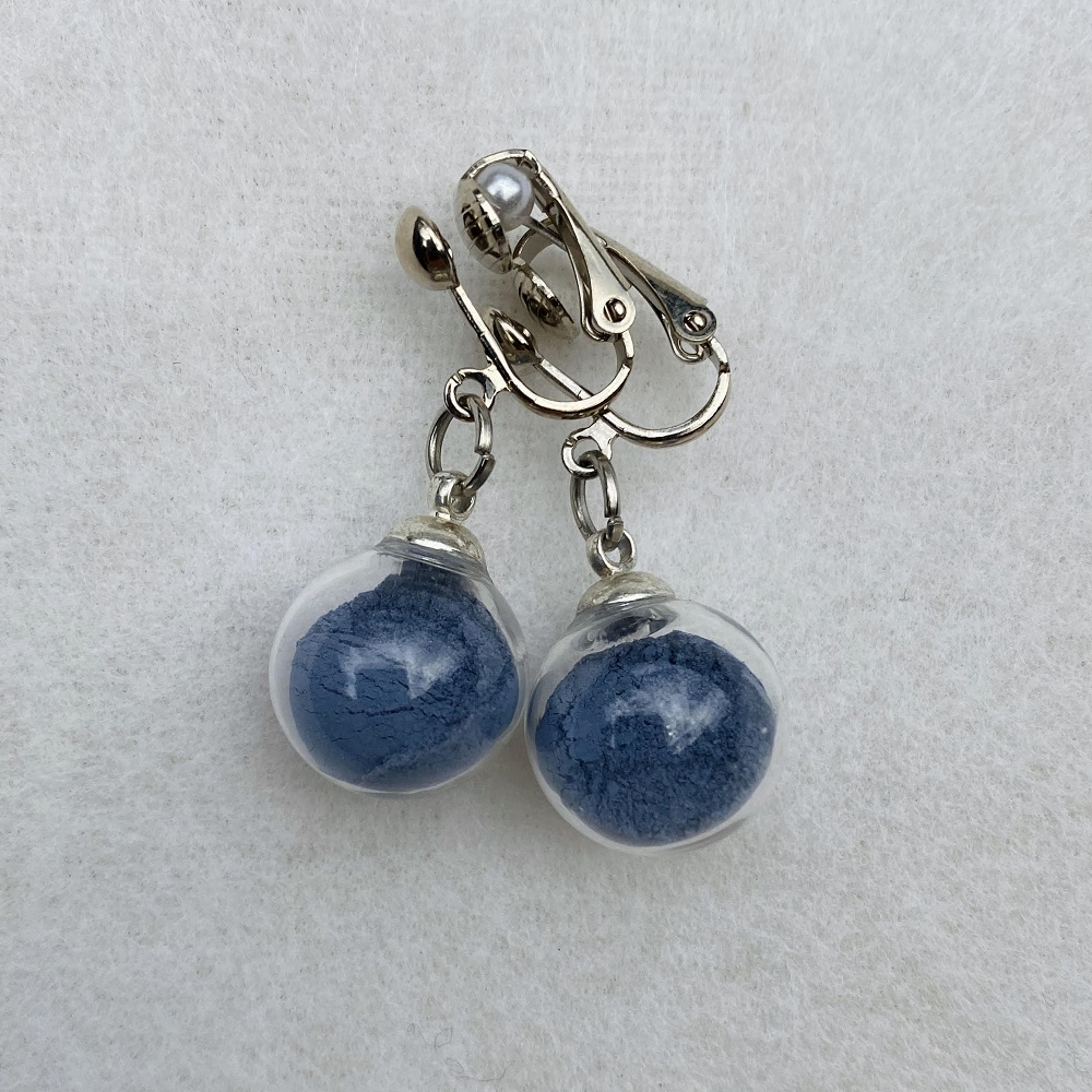 Boucles d\'oreilles - bleu Colette - clips
