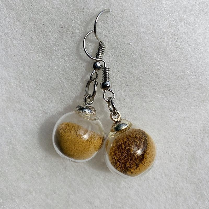 Boucles d\'oreilles - orange Boscherville - crochets argentés