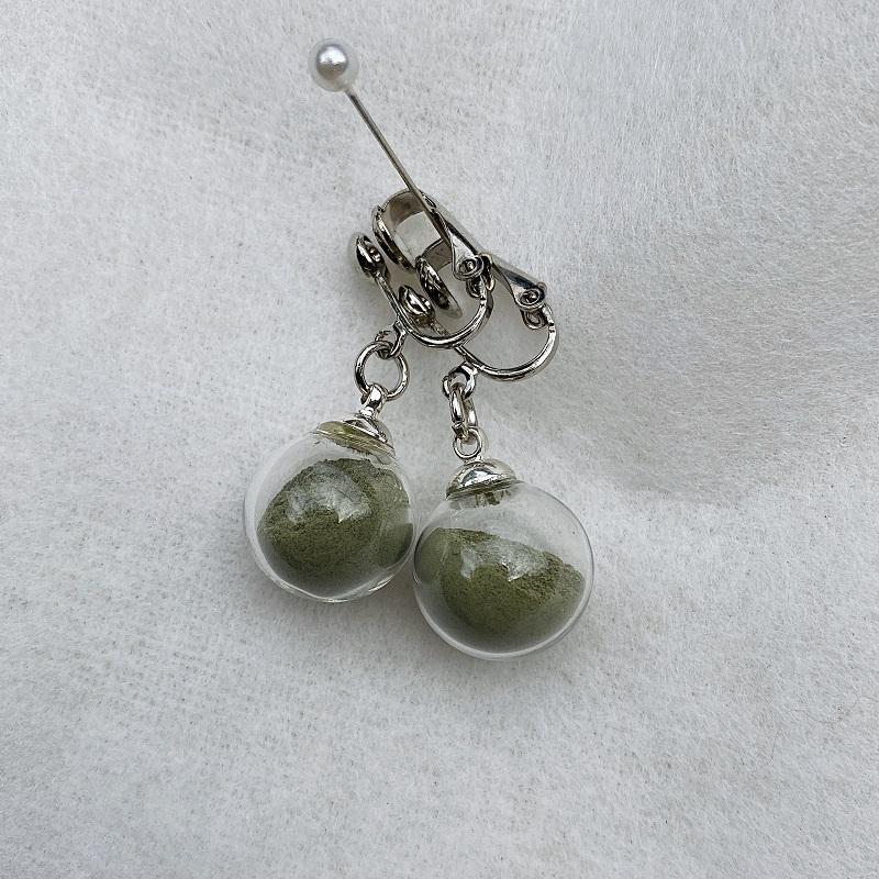 Boucles d\'oreilles - vert - clips