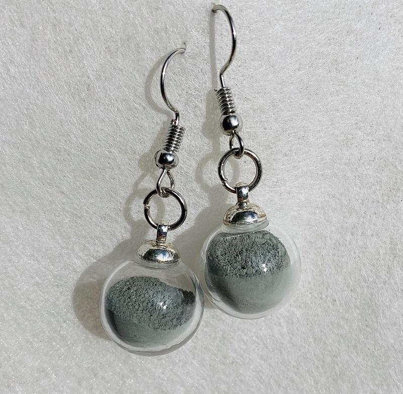 Boucles d\'oreilles - émeraude - crochets argentés