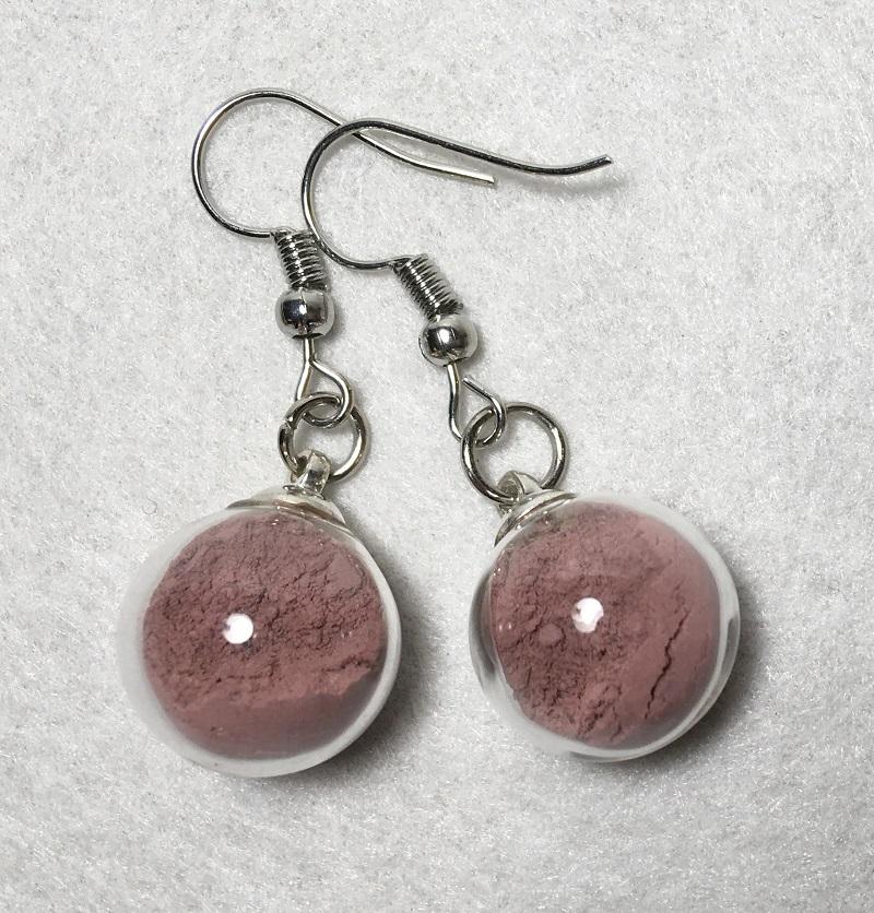 Boucles d\'oreilles - rose pâle Léopoldine - crochets argentes