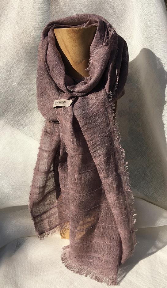 foulard lin violet Colette Peregreen