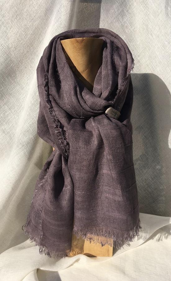 foulard violet-gris victor