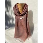 foulard violet lin laine alpaga peregreen couleur naturelle