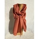 foulard laine garance rosé