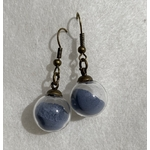 boucle oreille bleu crochet bronze peregreen