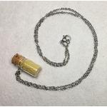 collier mini flacon chaine jaune peregreen