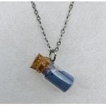 collier mini-flacon bleu peregreen