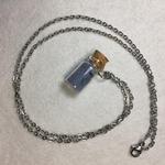 collier mini flacon bleu peregreen