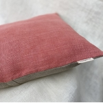 coussin lin rose detail peregreen