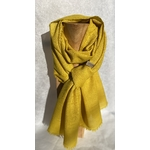 foulard laine jaune vif
