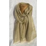 foulard vert tilleul lin alpaga peregreen