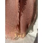 foulard lin rose pale detail peregreen