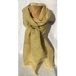 foulard lin jaune anis peregreen