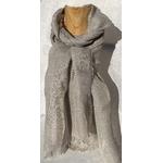 foulard lin gris cerisier peregreen