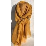 foulard lin orange pommier peregreen