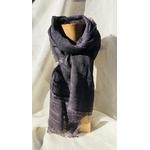 foulard bleu lin raye Peregreen
