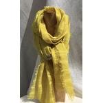 foulard lin jaune raye gaude peregreen